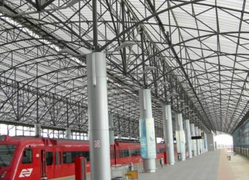 Train station roofing